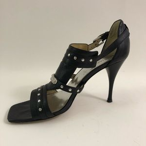 Michael Kors size 10 Strappy Heels Silver Studs